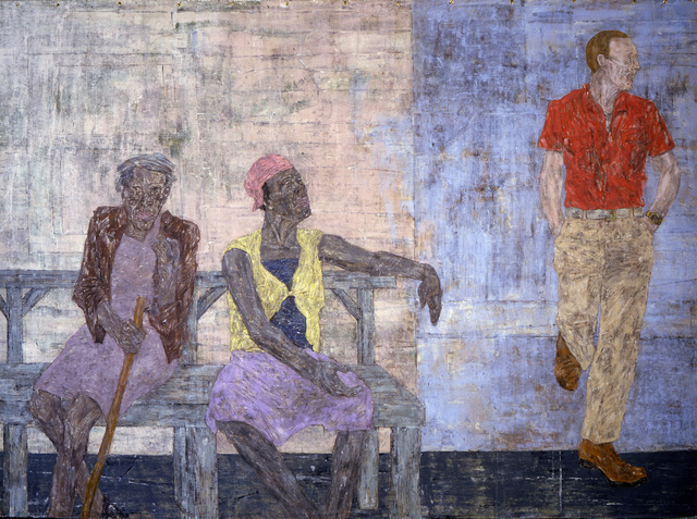 , 'Two Black Women and a White Man,,' 1986, The Metropolitan Museum of Art