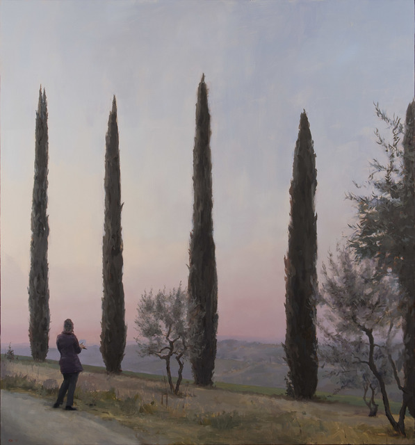 Kenny Harris, 'Judy Drawing Her Cypresses (Nature as Teacher)', 2015, Koplin Del Rio