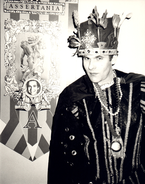 """Andy Warhol, 'Andy Warhol, Photograph of R. Couri Hay as the king of """"Assertania,"""" 1986', 1986, Hedges Projects"""