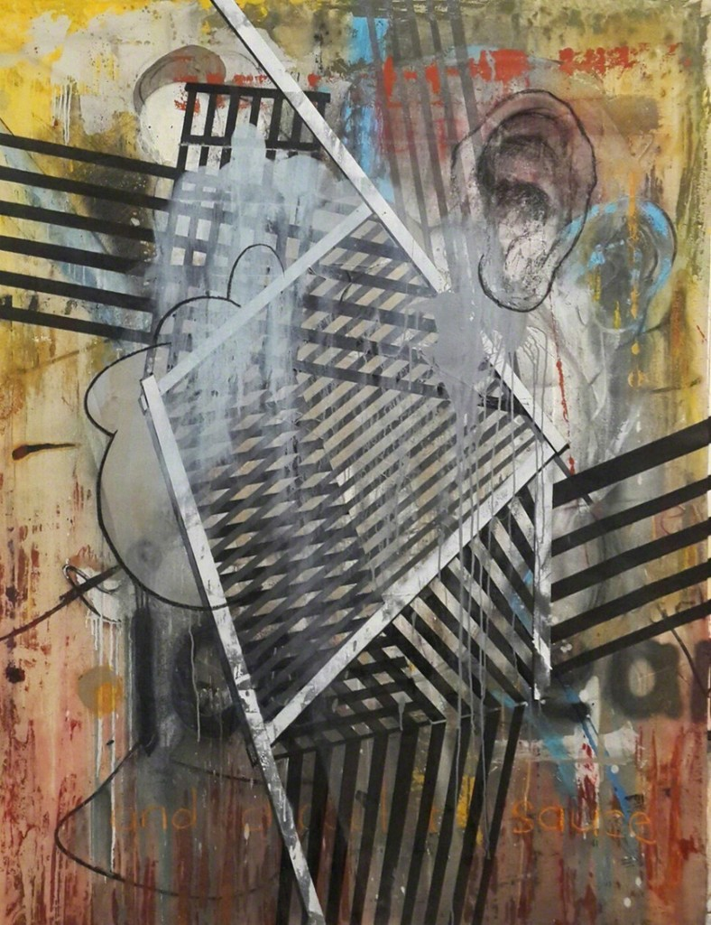 I know nothing, I have no moral authority or stance. Are the contents of my head of any interest as they bleed onto these surfaces? If so, to whom and to what effect? Painting has lost symbolic force and function in a culture of promiscuous knowledge and glutting information.
