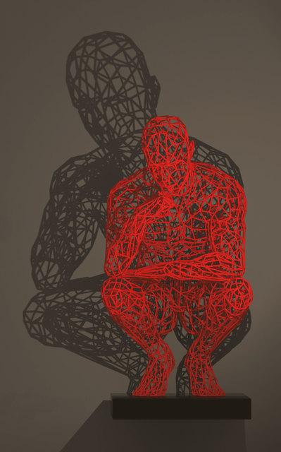 , 'Thinker / red,' 2017, Joerg Heitsch Gallery