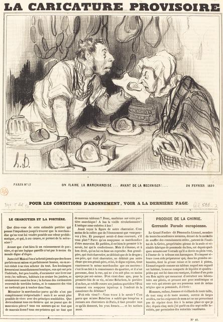 Honoré Daumier, 'On flaire la marchandise... avant de la mécaniser!...', 1839, National Gallery of Art, Washington, D.C.