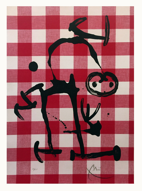 Joan Miró, 'The Illiterate with Red Squares', 1969, Elliott Gallery