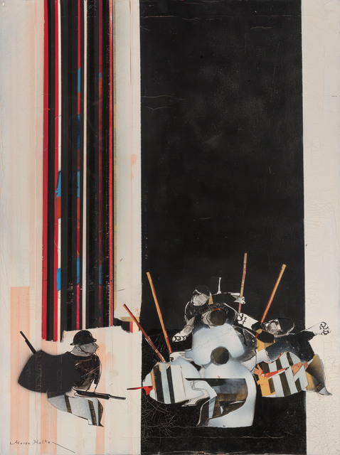 Marek Halter, 'War', Painting, Oil and collage on canvas, Doyle