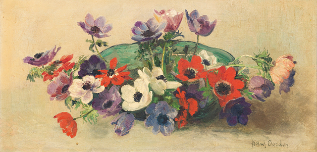 Frans Oerder, 'Still Life with Bowl of Anemones', Strauss & Co