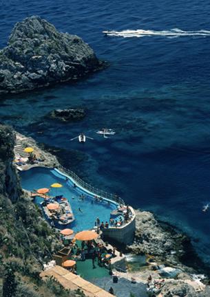 , 'Hotel Taormina Pool, Sicily,' 1975, Staley-Wise Gallery