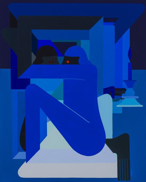 , 'We Meet In Dark Places, (2 Figures Facing),' 2018, V1 Gallery