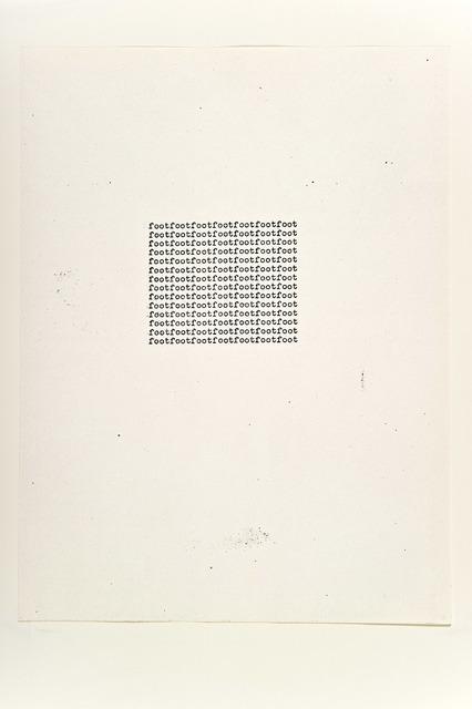 , 'foot,' 1963, Alfonso Artiaco