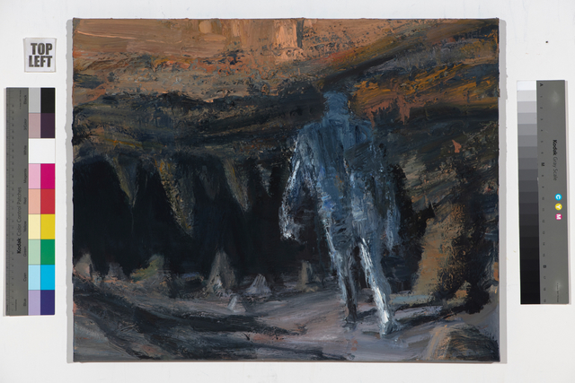 Euan Macleod, 'Walking into cave – orange ', 2017-18, Bowen Galleries
