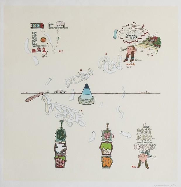Gianfranco Baruchello, 'L'Art abstrai', 1982, Print, Lithograph in colours, Finarte