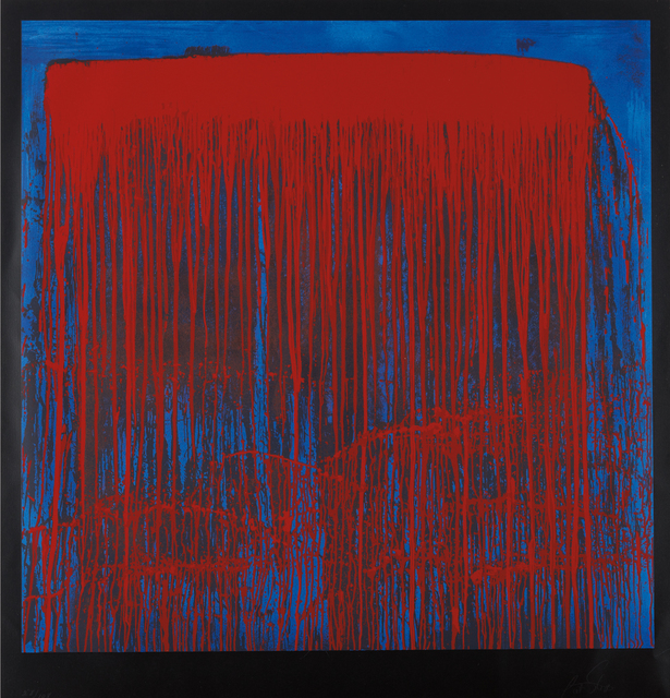 Pat Steir, 'Red and Blue Berlin Waterfall', 1993, Phillips