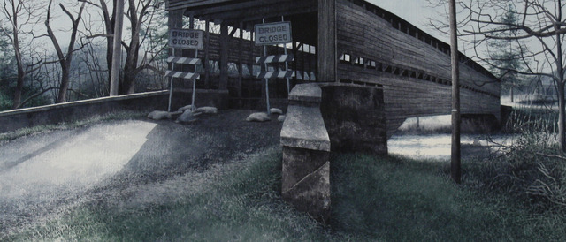 ", '40° 33' 17.6832"" -75° 52' 45.4074"" (Dreibelbis Covered Bridge),' 2013, ACA Galleries"