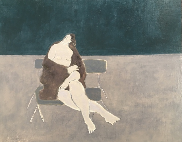 , 'Seaside,Towel and folding chair,' 2018, Emmanuelle G Gallery