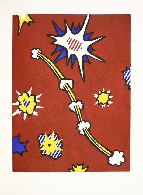 Roy Lichtenstein, 'Illustration for 'De Denver au Montana, Départ 27 Mai 1972' (II), from La Nouvelle Chute de l'Amérique', 1992, Print, Etching with Aquatint, Shapero Modern