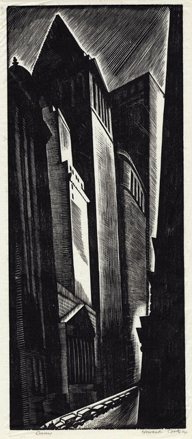 , 'Canyons, New York.,' 1928, The Old Print Shop, Inc.