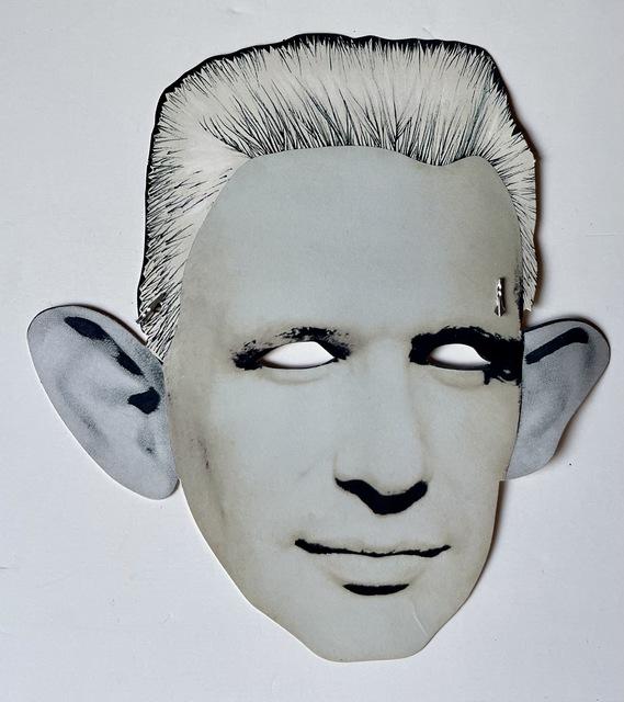 "Jean Paul Gaultier, '""Palladium & Jean Paul Gaultier"", Look-Alike Contest Invitation Paper Mask/Flyer ', ca. 1987, Ephemera or Merchandise, Paper, elastic string, metal, VINCE fine arts/ephemera"