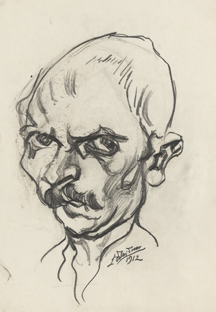 Ludwig Meidner, 'self portrait', 1912, Institut Mathildenhöhe Darmstadt