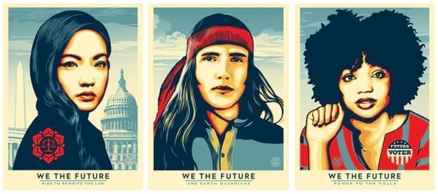 Shepard Fairey (OBEY), 'We The Future Set', 2018, New Union Gallery