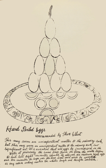 Andy Warhol, 'Hard Boiled Eggs', 1959, Woodward Gallery