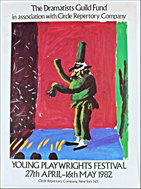 David Hockney, 'Young Playwright's Festival, from the collection of Anthony Haden-Guest (Hand signed)', 1982, Alpha 137 Gallery