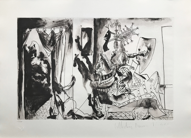 Pablo Picasso, 'CHEVALIER EN ARMURE, PAGE ET FEMME NUE', 1979-1982, Reproduction, LITHOGRAPH ON ARCHES PAPER, Gallery Art