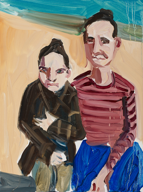 , 'Self Portrait with Esme (Study for Looking Towards Bexhill),' 2017, Victoria Miro