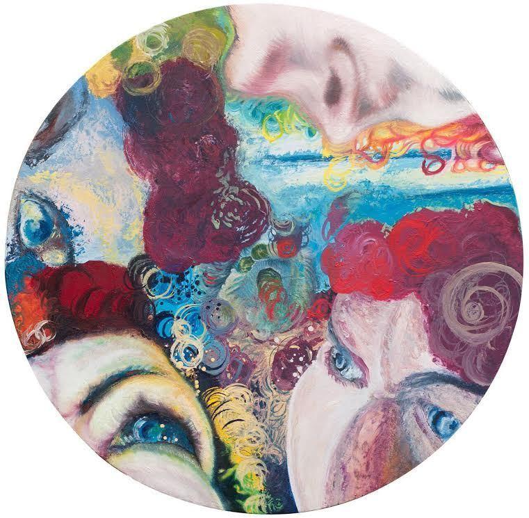 """""""To My Mother My Darkening Clowns"""" by Anita Schmaltz, oil on canvas"""