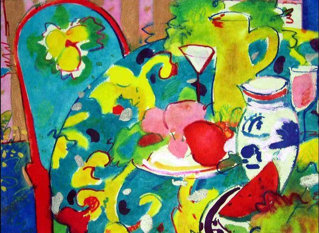 , 'Bodegon Con Jarron Amarillo,' 1995, Florida Fine Art