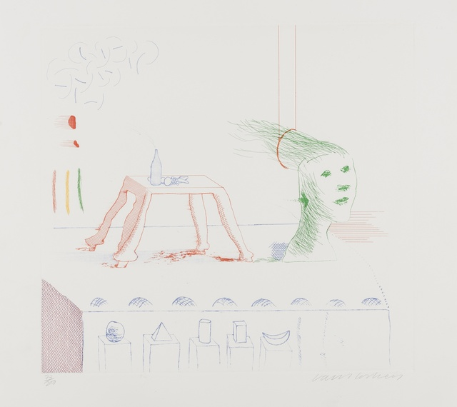 David Hockney, 'A Moving Still Life (from The Blue Guitar) (M.C.A. Tokyo 195)', 1976-1977, Forum Auctions