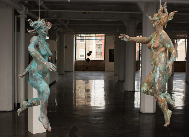 , 'Suspension I & II,' 2016, Gallery at Zhou B Art Center