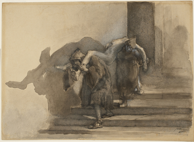 , 'The Monatti, illustration to Alessandro Manzoni's I Promessi Sposi,' ca. 1895-99, Princeton University Art Museum