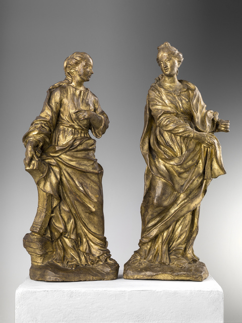 , 'ST CATHERINE OF ALEXANDRIA AND FIGURE OF A FEMALE SAINT,' , Brun Fine Art