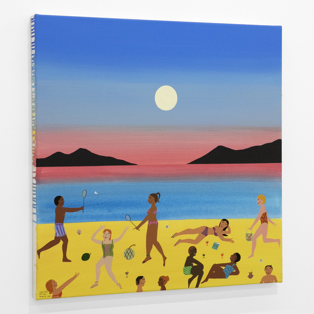Chelsea Ryoko Wong, 'Badminton on the Beach', 2021, Painting, Acrylic on canvas, Bim Bam Gallery