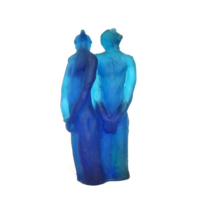 Graeme Hitchcock, 'Where Two Are -Blue', 2019, Sculpture, Cast Glass, Black Door Gallery