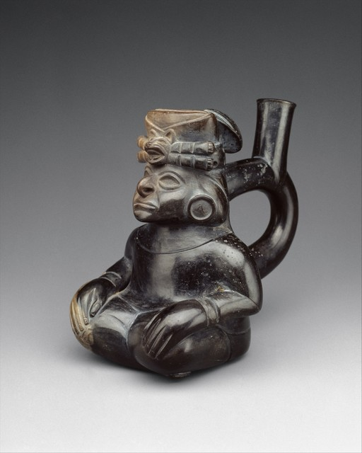 Unknown Moche, 'Seated Figure Bottle', 2nd–5th century, The Metropolitan Museum of Art