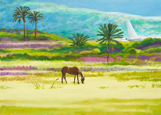 , 'Grasendes Pferd,' 2016, GALERIE VON&VON