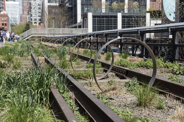 , 'Steel Rings,' 2013–ongoing, High Line Art
