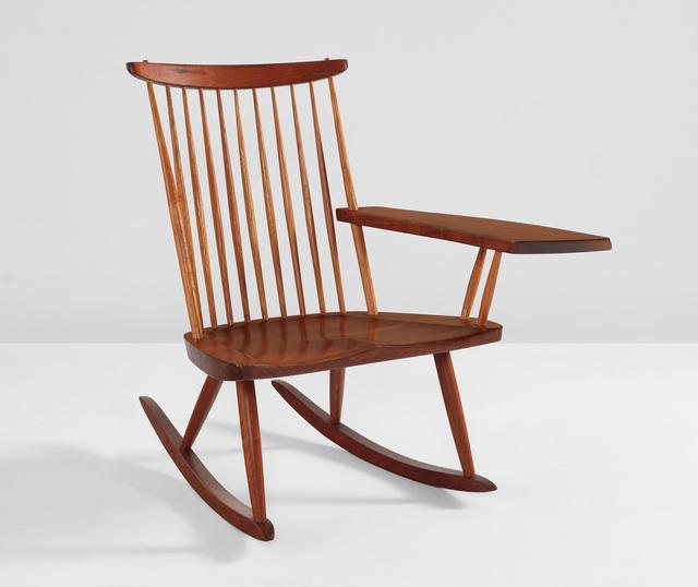 George Nakashima, 'Single-armed rocking chair', Phillips