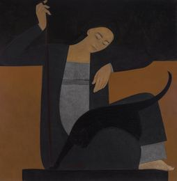 Woman, Cat and String