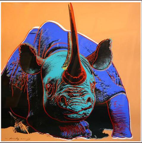 Andy Warhol, 'ENDANGERED SPECIES: BLACK RHINOCEROS FS II.301', 1983, Robin Rile Fine Art