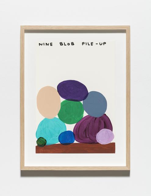 , 'Untitled (Nine blob pile-up),' 2019, Galleri Nicolai Wallner