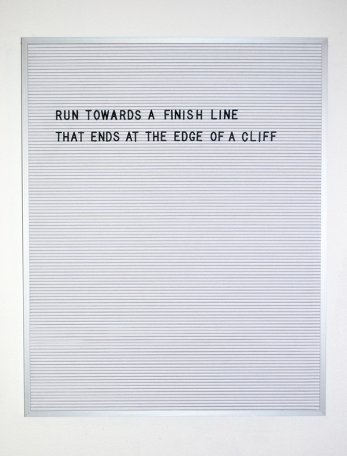 , 'Finish Line,' 2016, Myla Dalbesio