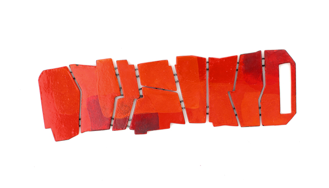 , 'Flat Bracelet in Red and Orange,' 2017, Facèré Jewelry Art Gallery