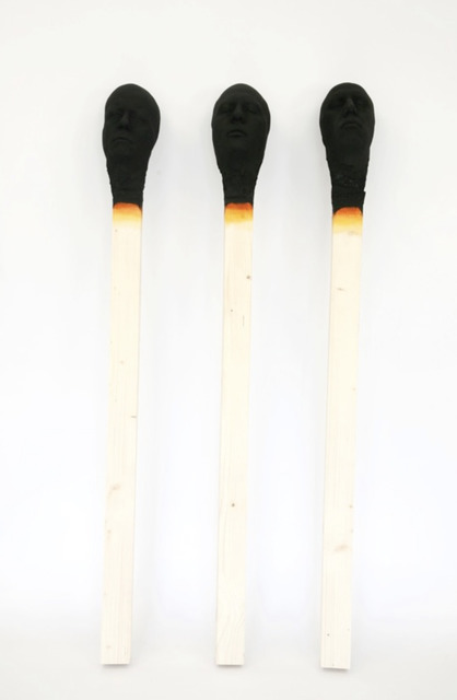 , 'Group of 3 Matchsticks,' 2017, Mark Hachem Gallery