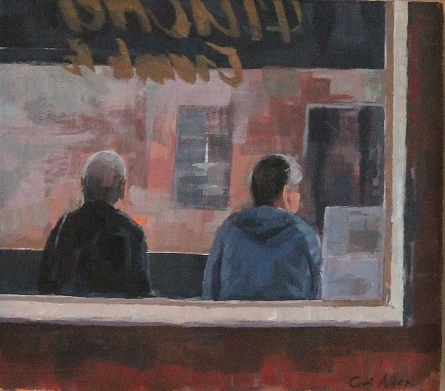 , 'Bus stop study,' 2019, Castlegate House Gallery