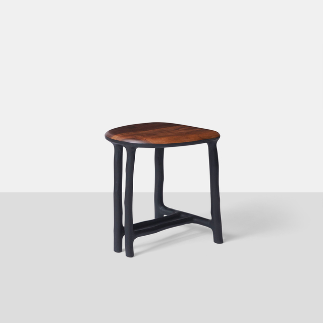 , 'Walnut & Charred Hazel Stool,' 2016, Almond & Co.