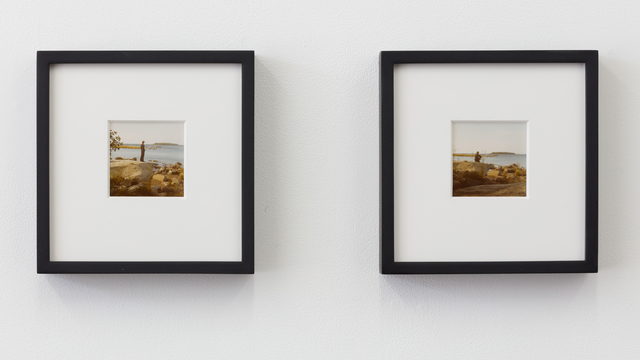 Bas Jan Ader, 'Study for Farewell to faraway friends', 1971, Photography, Set of two color vintage prints (framed), Meliksetian   Briggs