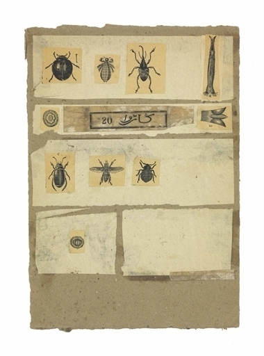 Robert Rauschenberg, 'Untitled (Insects) ', Engraving and paper collage on paperboard, Christie's