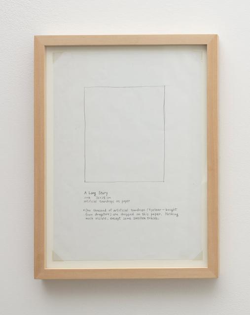 , 'A Long Story,' 1998, Tina Kim Gallery