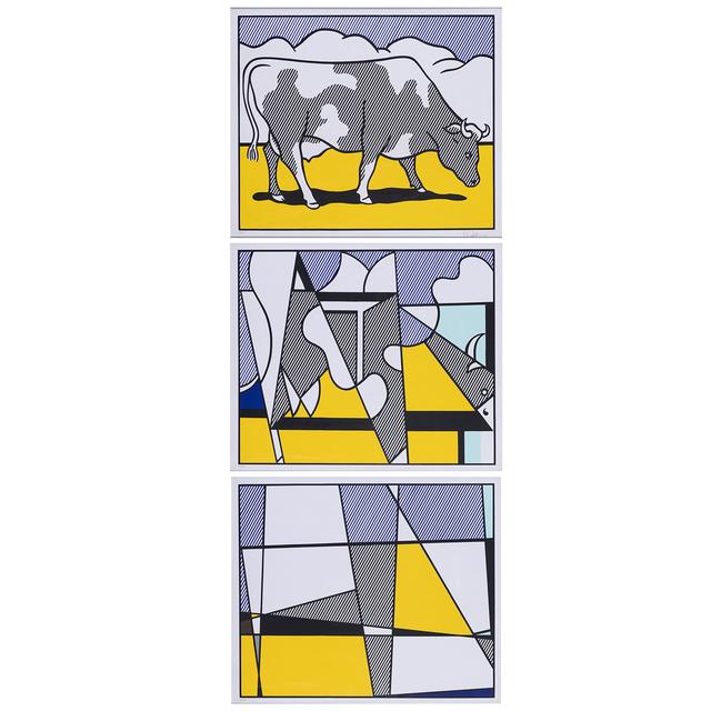 Roy Lichtenstein, 'Cow Going Abstract - Triptyque', 1982, PIASA